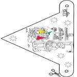 Coloriages Noël - Noël pavillon 9