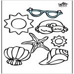 Coloriages faits divers - Objets de l'été