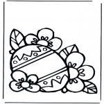 Coloriage thème - Oeuf de Pâques 1
