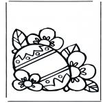Coloriage thème - Oeuf de Pâques 3