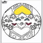 Coloriage thème - Oeuf de Pâques 4