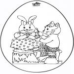Coloriage thème - Oeuf de Pâques 5