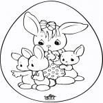 Coloriage thème - Oeuf de Pâques 6