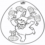 Coloriage thème - Oeuf de Pâques 7