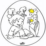 Coloriage thème - Oeuf de Pâques 8