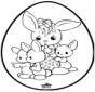 Oeuf de Pâques - Dessin à piquer 1