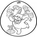 Coloriage thème - Oeuf de Pâques - Dessin à piquer 2