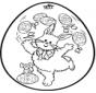 Oeuf de Pâques - Dessin à piquer 2