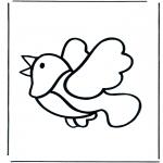 Coloriages d'animaux - Oiseau 1