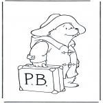 Coloriages pour enfants - Paddington avec valise