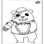 Coloriages d'animaux - Panda 1