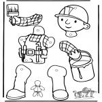 Bricolage coloriages - Pantin Bob le Bricoleur 1