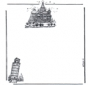 Papier à lettres bâtiments
