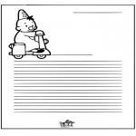 Bricolage coloriages - Papier à lettres - Bumba