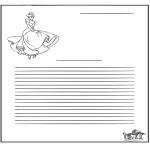 Bricolage coloriages - Papier à lettres - Cendrillon