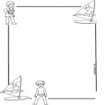Bricolage coloriages - Papier à lettres enfant