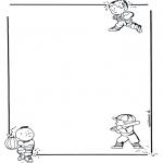Bricolage coloriages - Papier à lettres enfants 1