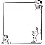 Bricolage coloriages - Papier à lettres enfants 2