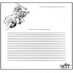 Bricolage coloriages - Papier à lettres - Harry Potter