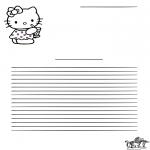 Bricolage coloriages - Papier à lettres - Hello Kitty
