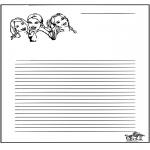 Bricolage coloriages - Papier à lettres K3