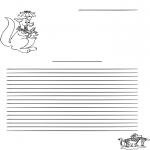Bricolage coloriages - Papier à lettres kangourou