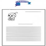 Bricolage coloriages -  Papier à lettres - Primavita bébé