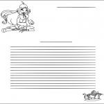 Bricolage coloriages - Papier à lettres Winx