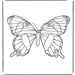 Coloriages d'animaux - Papillon 1
