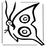 Coloriages d'animaux - Papillon 2