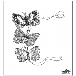 Coloriages d'animaux - Papillon 3