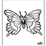 Coloriages d'animaux - Papillon 4