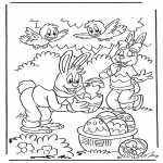 Coloriage thème - Pâques 1
