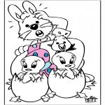Coloriage thème - Pâques 10