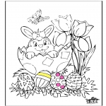 Coloriage thème - Pâques 11