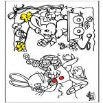 Coloriage thème - Pâques 12