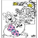 Coloriage thème - Pâques 3