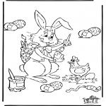 Coloriage thème - Pâques 4