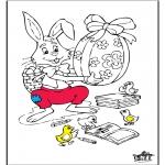 Coloriage thème - Pâques 6