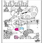 Coloriage thème - Pâques 7