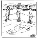 Coloriages Bible - Pâques - Bible 1
