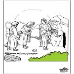 Coloriages Bible - Pâques - Bible 7