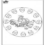 Coloriage thème - Pâques - mandala 2