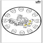 Coloriage thème - Pâques - mandala 4