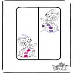 Coloriage thème - Pâques - Marque-page 1