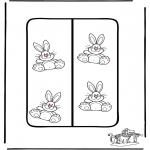 Coloriage thème - Pâques - Marque-page 2