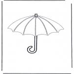 Coloriages faits divers - Parapluie