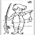 Coloriages faits divers - Pêche 3