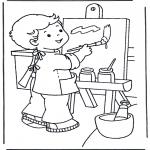 Coloriages pour enfants - Peinture sur toile