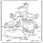 Coloriages pour enfants - Pélicans